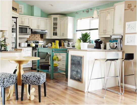 color crush blue and green kitchens room design inspirations
