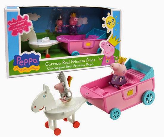 JUGUETES - PEPPA PIG - Carroza Real Princesa Peppa  Producto Oficial | Bandai 84331 | A partir de 3 años