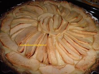 crostata integrale alla crema e mele (senza burro)