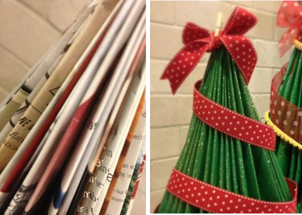 Tutorial de artesan as 10 adornos de navidad con pocos - Arbol de navidad adornado ...
