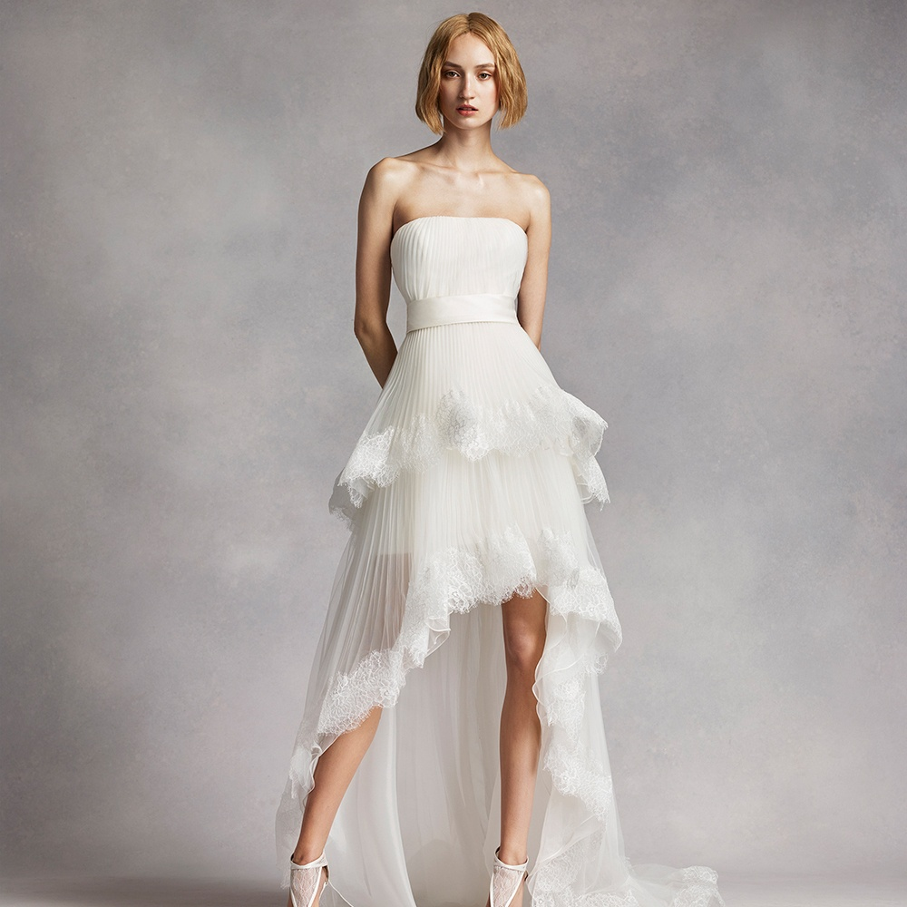 wedding dresses cold climates: White Short Wedding Dresses Vera Wang