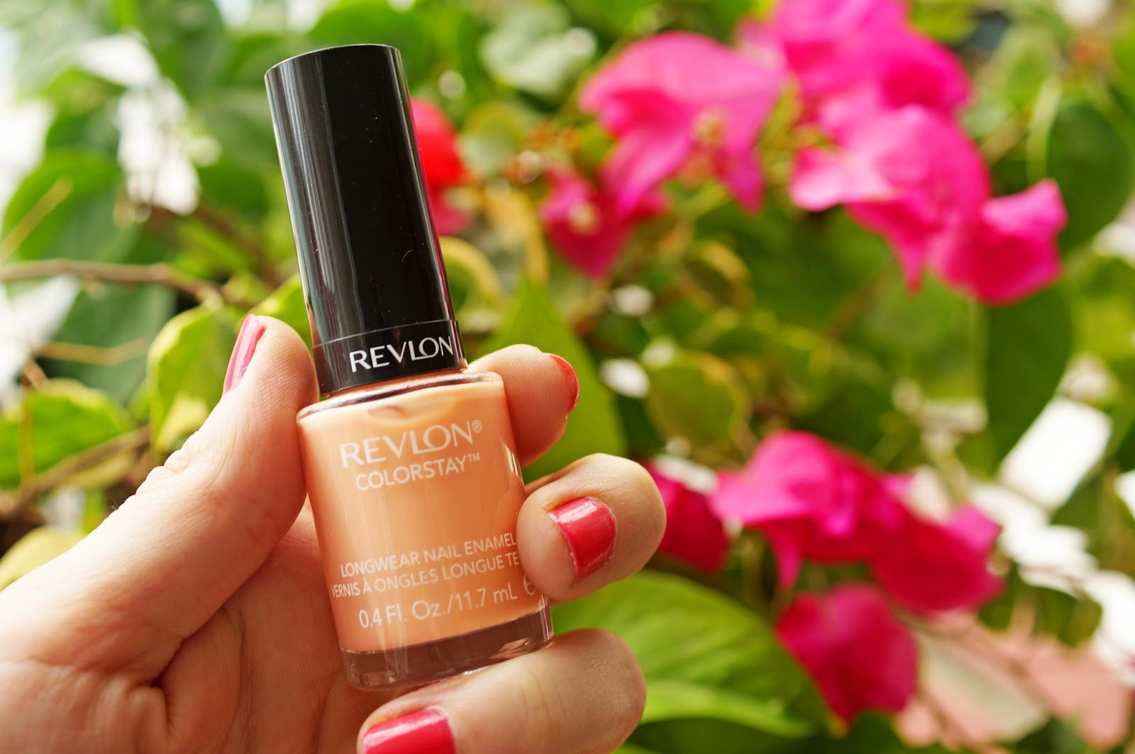 Super pretty light orange nail polish called Seashell by Revlon Colorstay