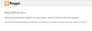 Blog Dihapus google