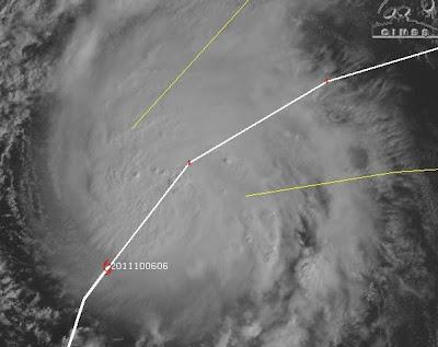 PHILIPPE ist jetzt ein Hurrikan, Philippe, Atlantik, Hurrikan Satellitenbilder, aktuell, Oktober, 2011, Hurrikansaison 2011,