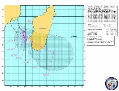 Sistema de prevision tormenta tropical, Madagascar, 19 de Febrero 2013