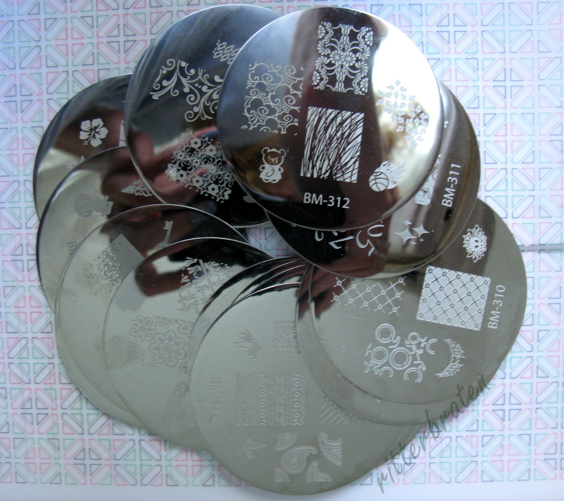 Bundle Monster stamping plates 2012