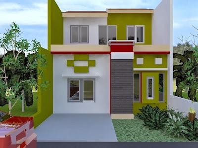 Contoh Desain Rumah Minimalis Terbaru - 2 Lantai