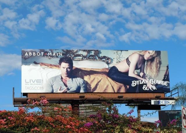 Kellan Lutz Abbot + Main billboard