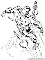 Gambar Iron Man Dikejar Roket Musuh