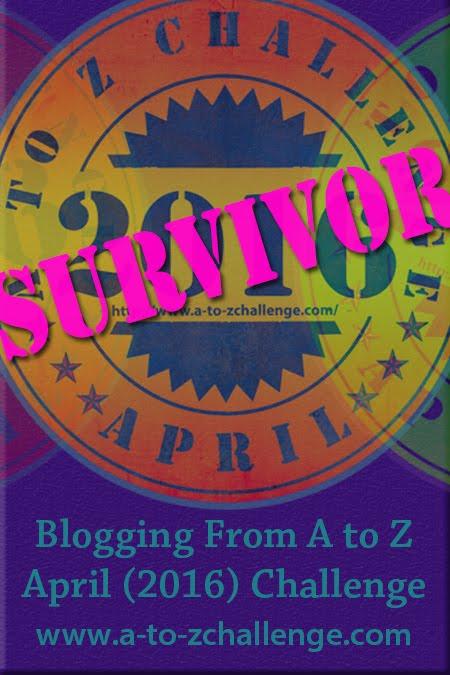 A to Z Blog Challenge Survivor Badge