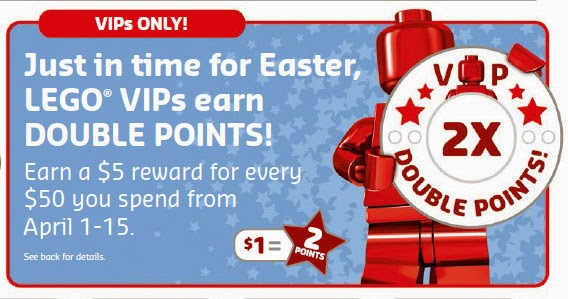 LEGO VIP double points