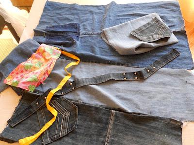 Как сшить из джинсов чехол