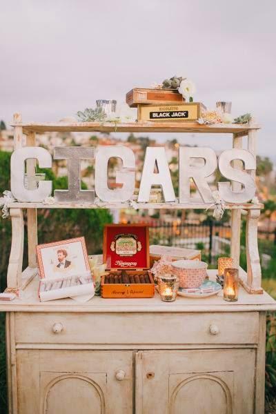 Cigar Corner en la boda