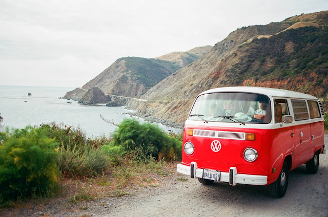 Big Sur roadtrip camper van