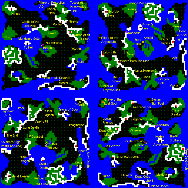 8Bit City Ultima World Map