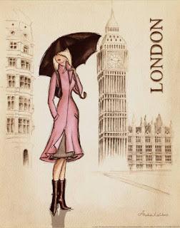 Chica en Londres  Chicas y ciudades para imprimir