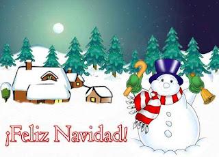 Feliz navidad con un muñeco de nieve