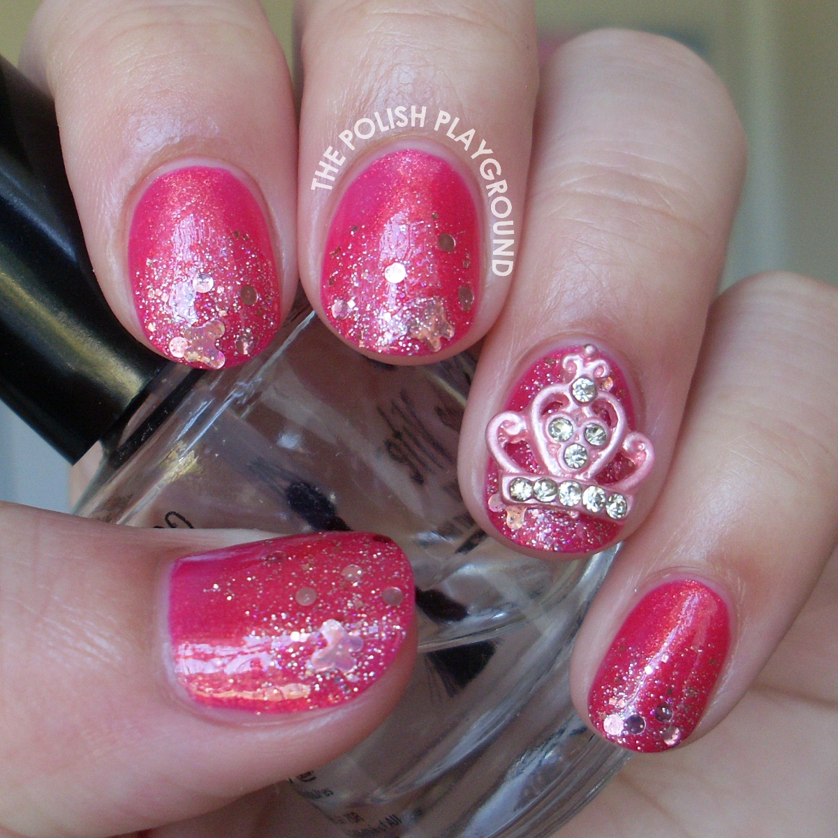 Pink Princess Nail Art