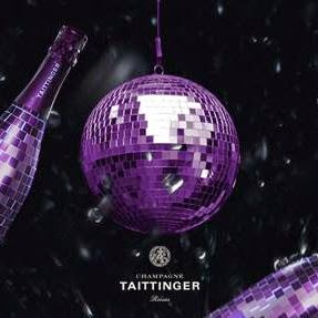 champagne taittinger viola sfera disco packaging label design grafica etichette vino