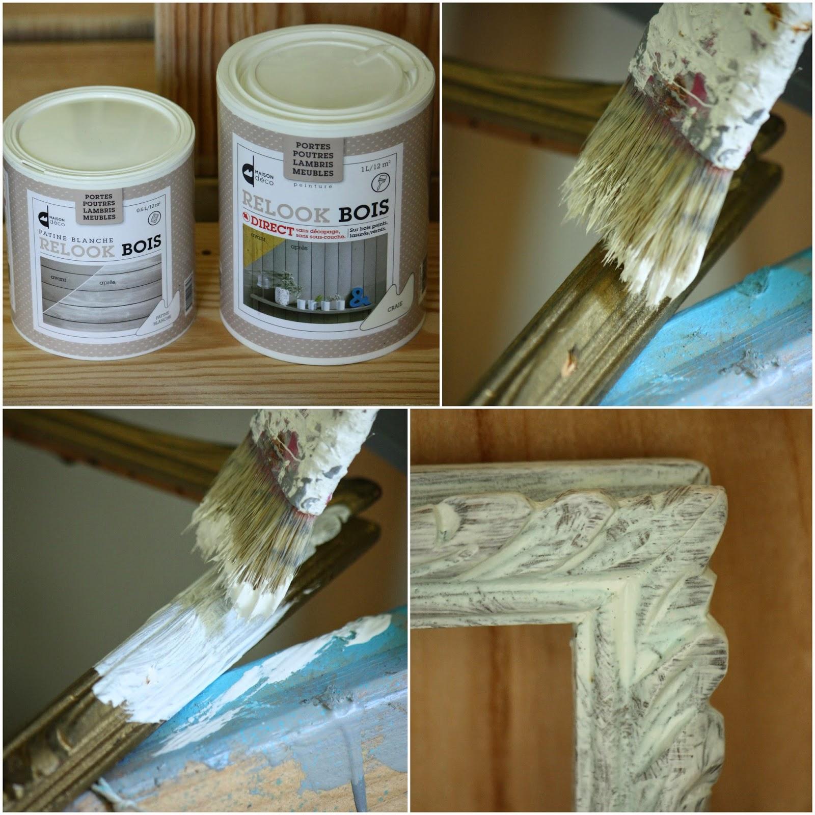 Un nouveau regard relooking d 39 un cadre ancien avec les for Peinture bois deco