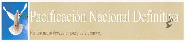 PACIFICACION NACIONAL DEFINITIVA