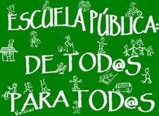 """El 12 de septiembre tod@s con la camiseta de """"Escuela pública para tod@s"""""""