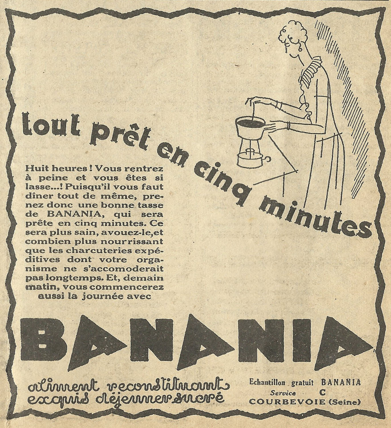 Old ads are funny 1930s french ad tout pr t en cinq minutes for Magic renov tout pret