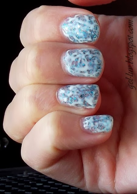Gel luv a gel polish blog a wintry mix saran wrap nails ive got on two coats of opi axxium gel in gone gonzo this color is almost exactly the same as the regular nail polish rnp version from opis muppets solutioingenieria Image collections