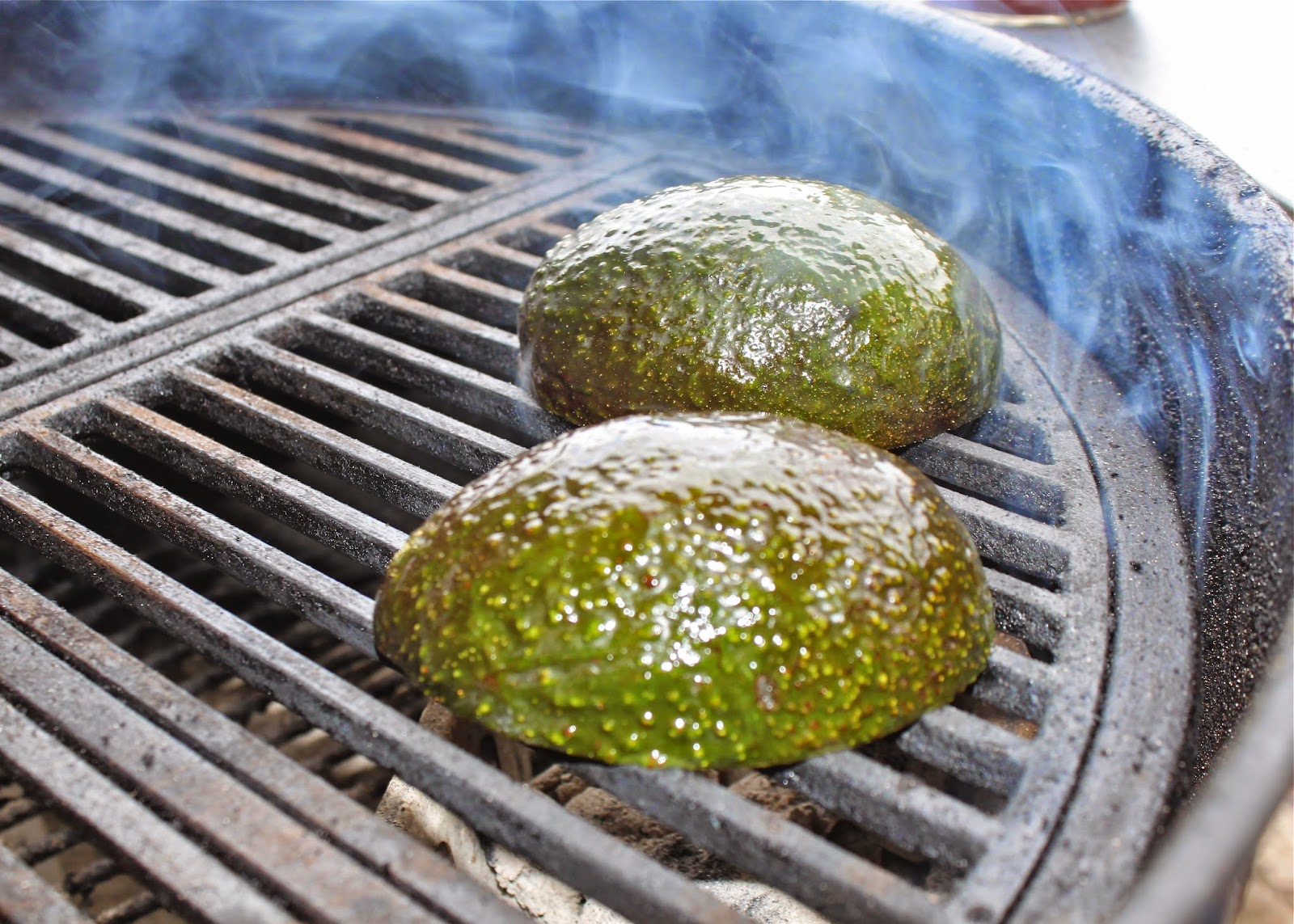 Tasty grilled avocado