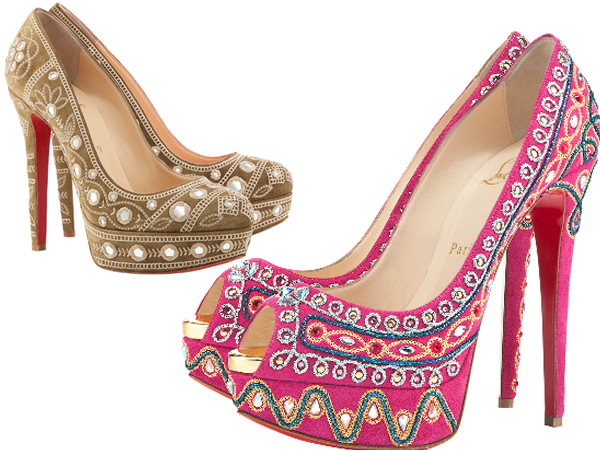 christian louboutin women sandals embellished pumps