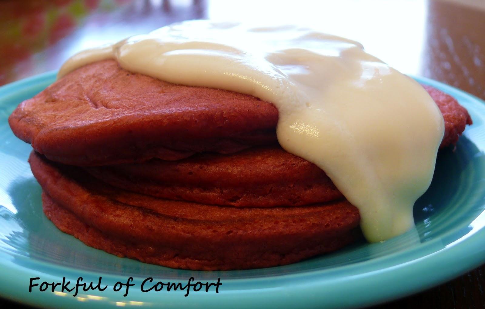 Red Velvet Pancakes – #SundaySupper Images - Frompo