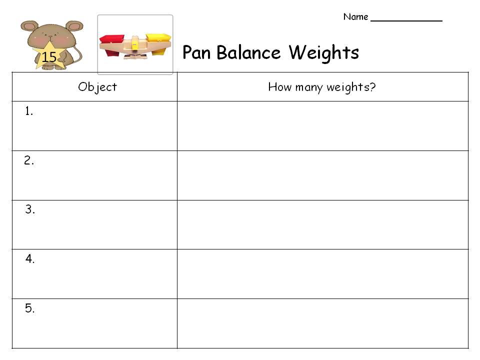 MultiGrade Matters Ideas for a Split Class Everyday Math – Pan Balance Worksheets