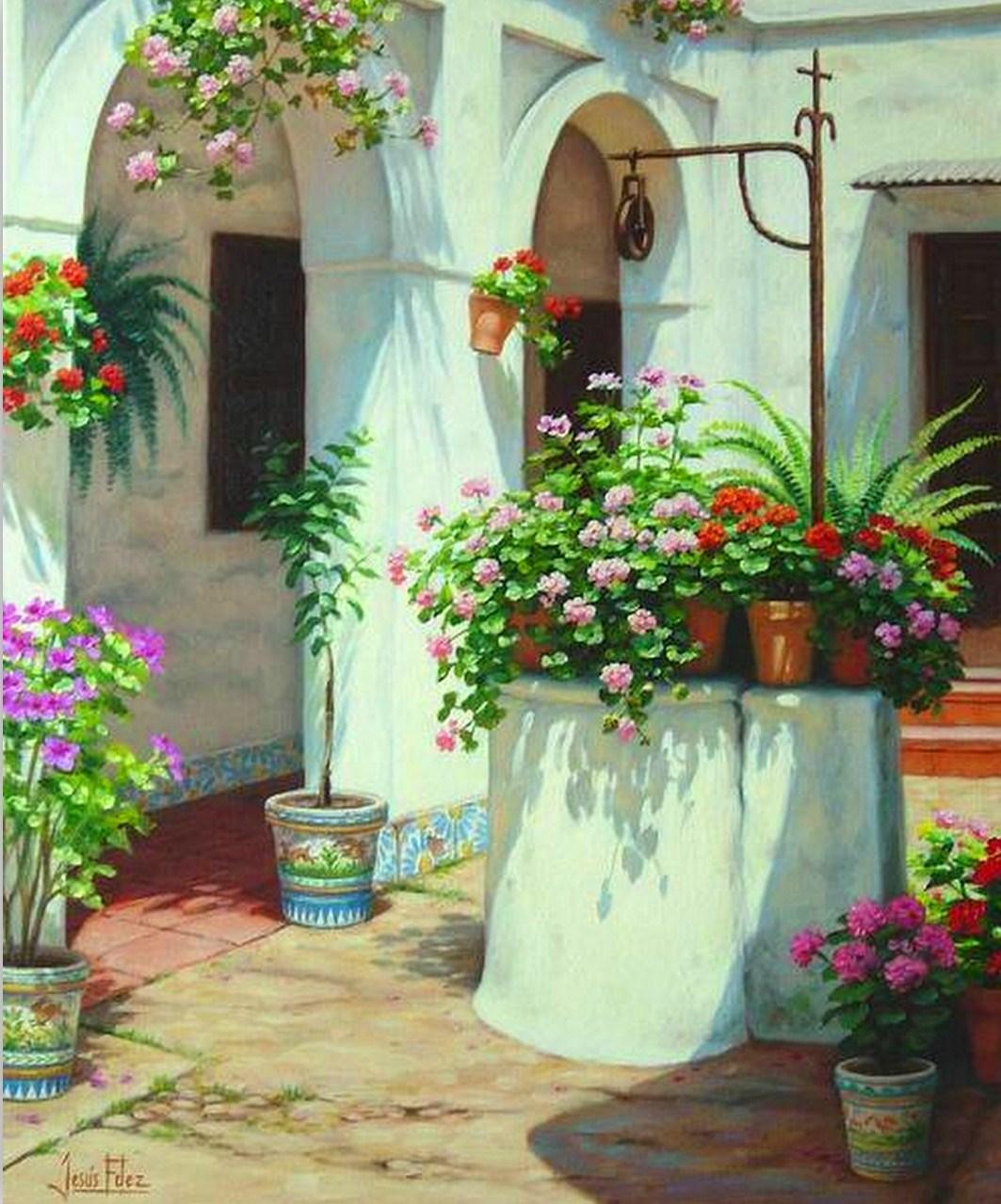 Hermosos cuadros al oleo flores paisajes bodegones car - Cuadros florales modernos ...