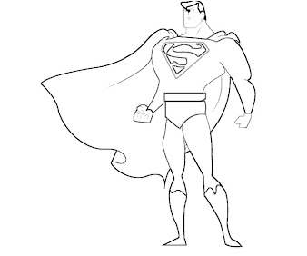 #7 Superman Coloring Page