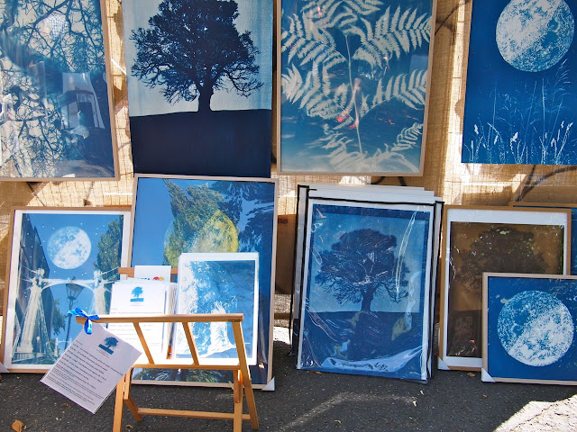 Cyanotypes on show at Josephine Avenue's annual Urban Art festival, July 2015