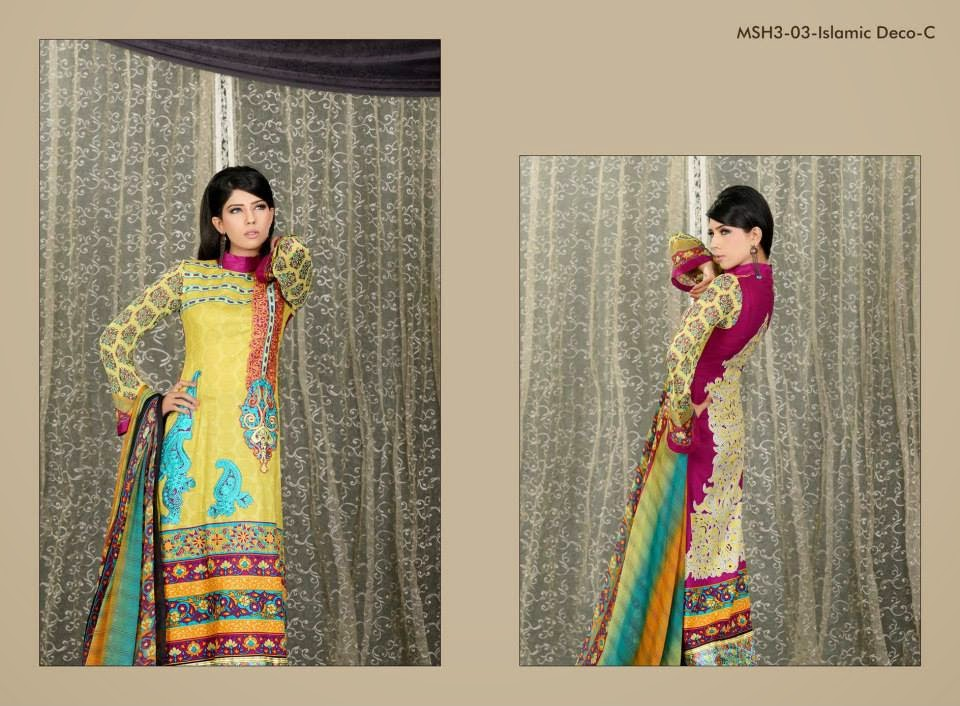 MashaalEmbroideredCollection2014VOL 03ByLalaTextile 2  - Mashaal Embroidered Collection 2014 VOL-3