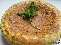 Tortilla española con queso y baicon-final