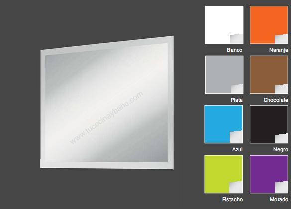 espejo baño barato marco color