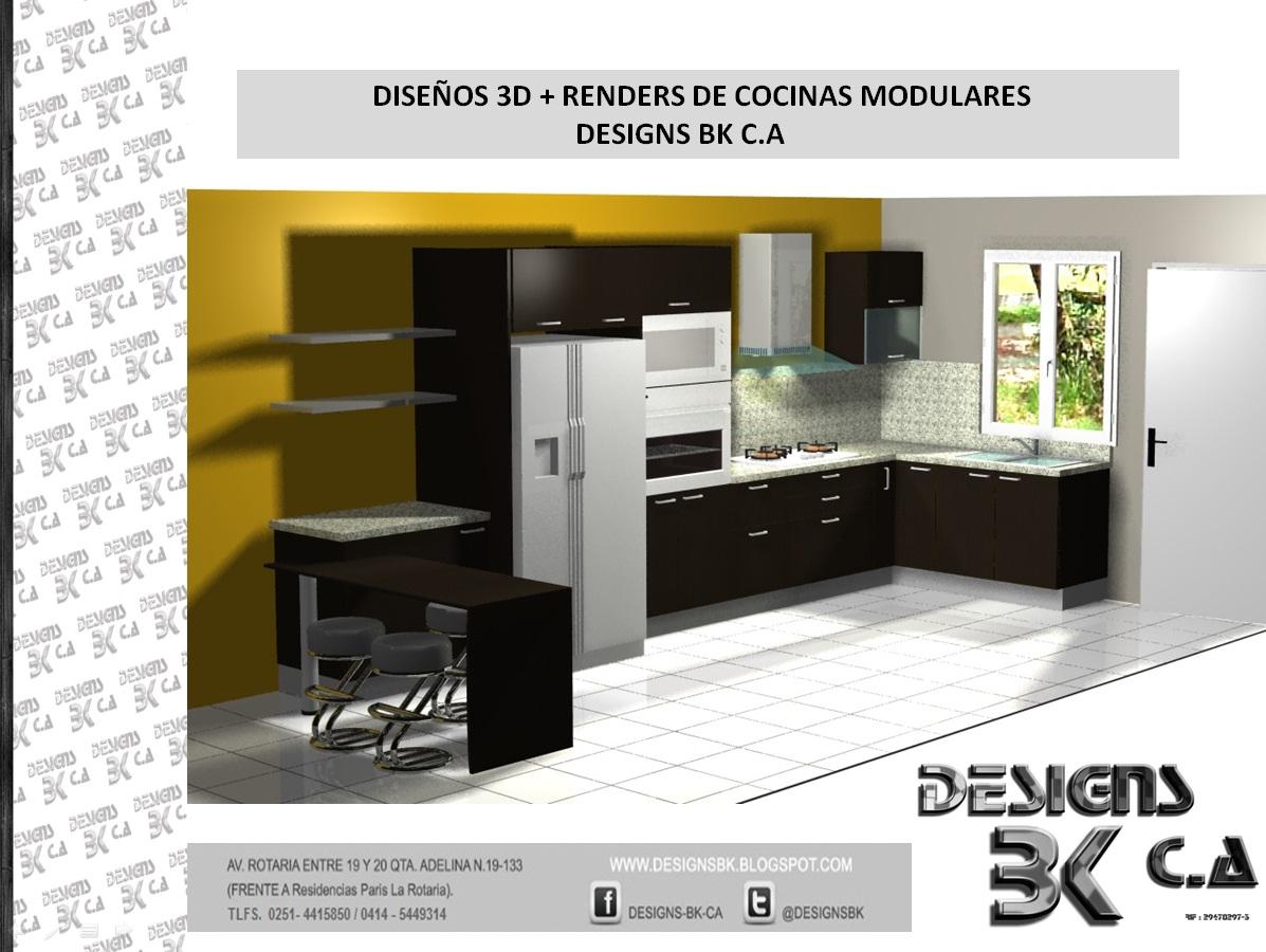 Designs bk c a dise os de cocinas modulares 3d renders for Ikea cocinas 3d planificador