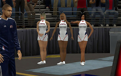NBA 2K13 Atlanta Hawks Cheerleaders Mods