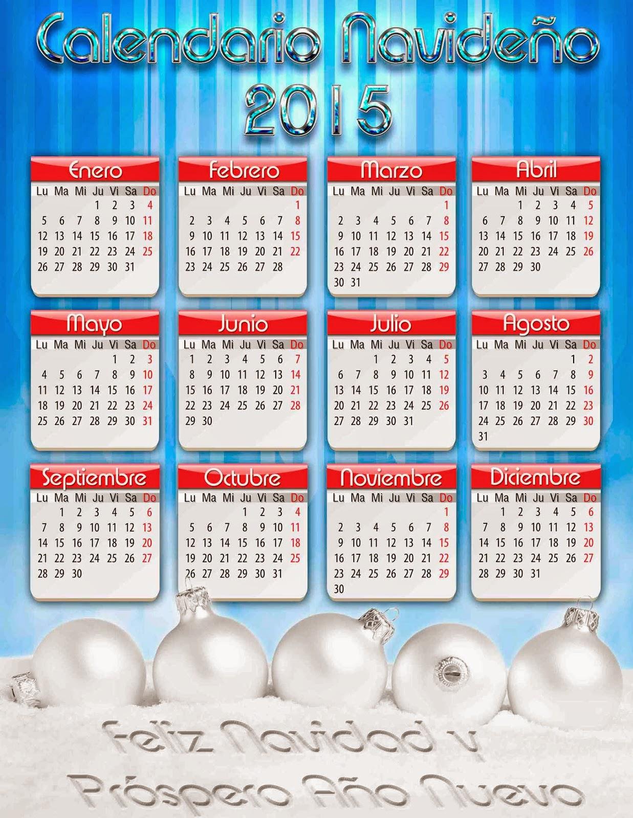 Cortina azul con hojas de un calendario 2015