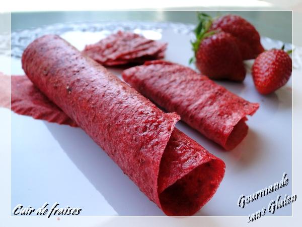 cuir de fraises