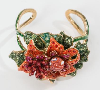 Rebajas SS 2015 complementos brazalete flor tropical