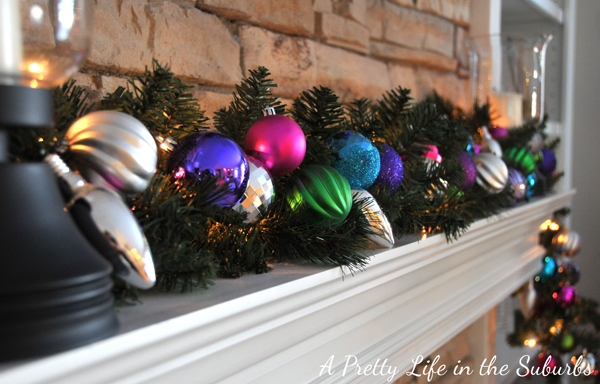 Colourful Christmas Mantel