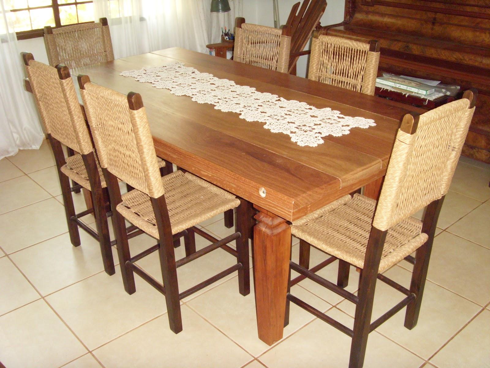 BAZAR DE CASA: Sala de jantar estilo colonial com 06 cadeiras #A94E22 1600x1200