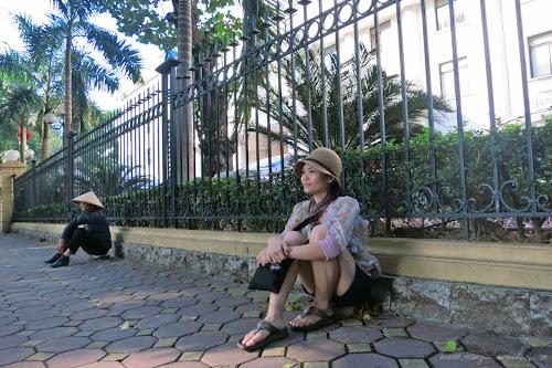 Old Quarter Sidewalk in Hanoi, Vietnam