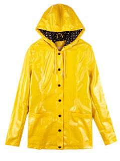 Yellow raincoat cute