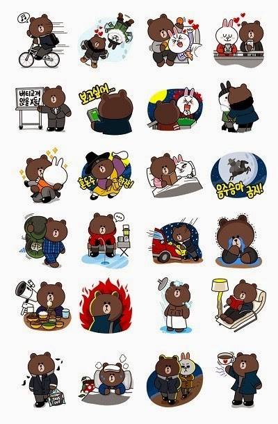 Brown's LOVE Story line stickers