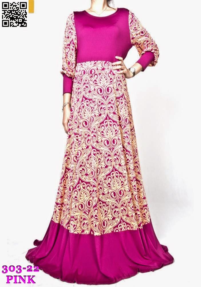 RETRO DESIGN ROUNDNECK JUBAH DRESS