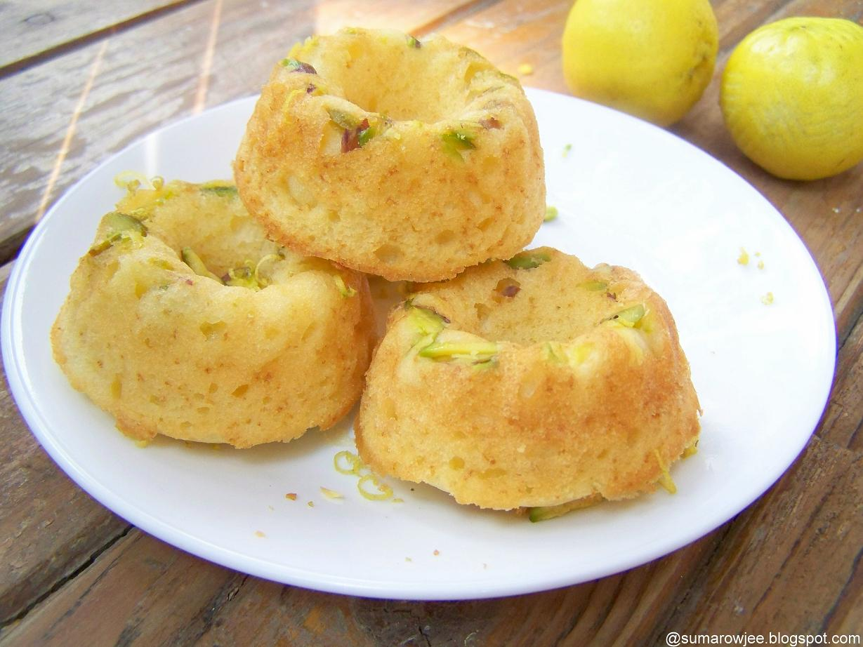Cakes And More!: Lemon & Pistachio Baby Bundt Cakes - And Meeting Kate ...